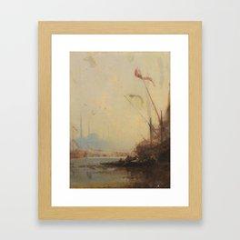 Henri Duvieux   1855 VIEW OF CONSTANTINOPLE Framed Art Print
