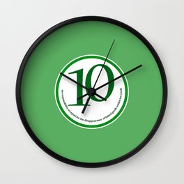 Baked (green-yards) Wall Clock