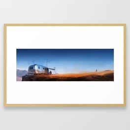 Desert Outpost - wide version Framed Art Print