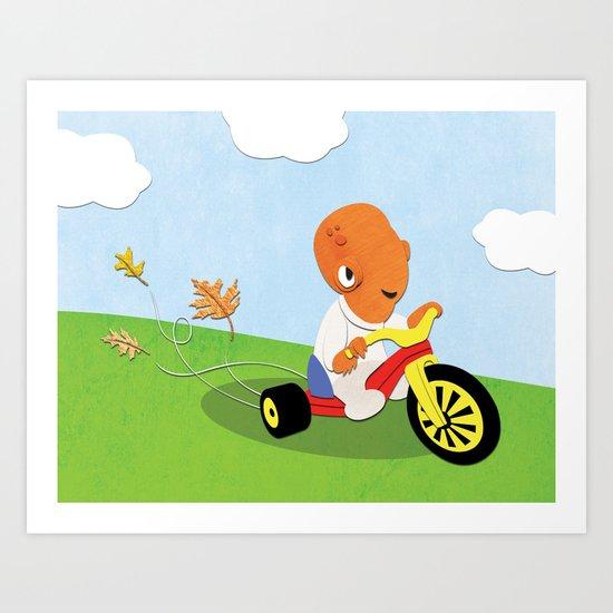 SW Kids - Big Wheel Ackbar Art Print