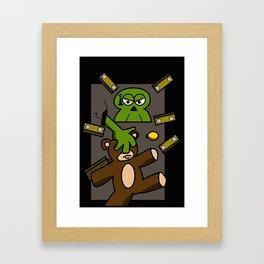 100 Zombies intrusion Framed Art Print