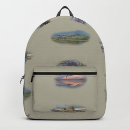 Highland landmarks in beige Backpack