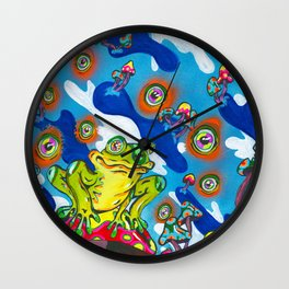 Eyes Of The Swamp Wall Clock