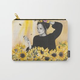 Sunflowers & Honey Bees Carry-All Pouch