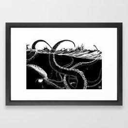 Kraken Rules the Sea Framed Art Print
