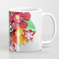 calavera Mugs featuring Calavera 1 by Marine Coutroutsios