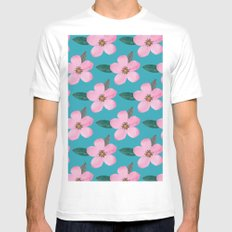 FLOWERS#PATTERN MEDIUM Mens Fitted Tee White