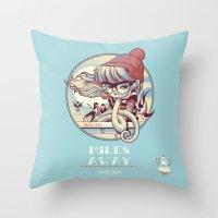 miles davis Throw Pillows featuring MILES AWAY by MFK00 aka Alex Arizmendi