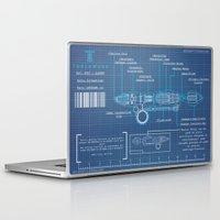 blueprint Laptop & iPad Skins featuring Riversong Screwdriver Blueprint by JackEmmett