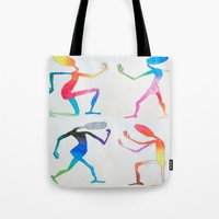 asexual Tote Bags featuring Human Transitioning by aalexhayes