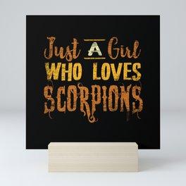 Scorpion Girl Mini Art Print