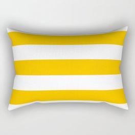 Fluorescent orange - solid color - white stripes pattern Rectangular Pillow