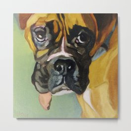 Drako the Rescued Boxer Metal Print