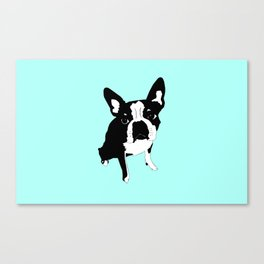 lucky luna in blue Canvas Print
