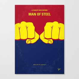 No447 My Men of steel minimal movie poster Canvas Print