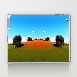 Trees, a hidden farm and fields of summer Laptop & iPad Skin