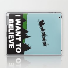 I Want To Believe (in Santa) Laptop & iPad Skin