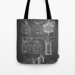 Brewery Patent - Beer Art - Black Chalkboard Tote Bag