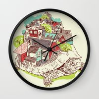 the neighbourhood Wall Clocks featuring Tur-Town by Yoshi Andrian