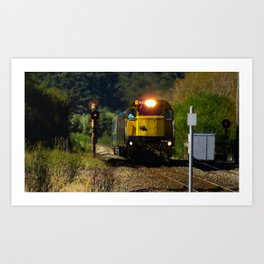 Train in the countryside Art Print