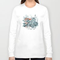 cyberpunk Long Sleeve T-shirts featuring Cyberpunk Beat Down by Dooomcat