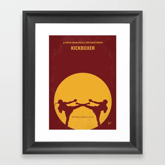 No178 My Kickboxer minimal movie poster Framed Art Print