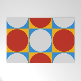 Dots on Checkerboard Welcome Mat