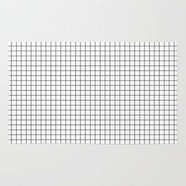 White Grid Black Line Rug