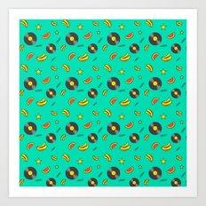 Disko Galerie funky pattern Art Print