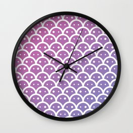 a galaxy of potatos pattern Wall Clock