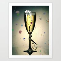 champagne Art Prints featuring Champagne by CokecinL