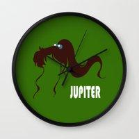sailor jupiter Wall Clocks featuring Sailor Jupiter by Michi Donaho