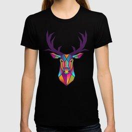 Deer | Geometric Colorful Low Poly Animal Set T-shirt