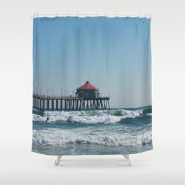 Huntington Beach Life Shower Curtain