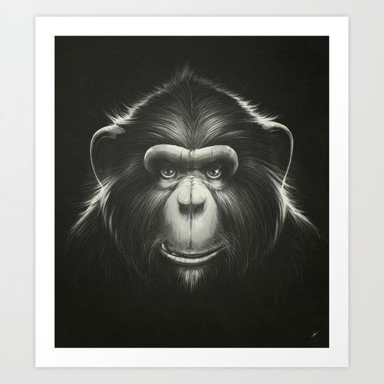 Monkee with Tooth Art Print