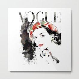 Vogue Fashion Illustration #16 Metal Print