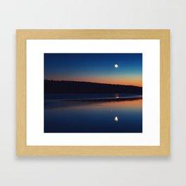 Mirrored Moonlight Framed Art Print