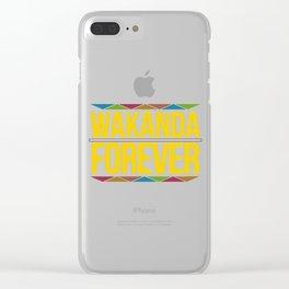 Wakanda Forever Clear iPhone Case
