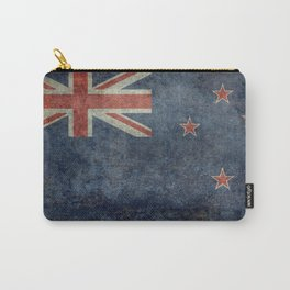 New Zealand Flag - Grungy retro style Carry-All Pouch