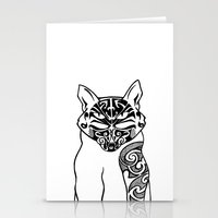 maori Stationery Cards featuring Maori Kitty by Sofy Rahman