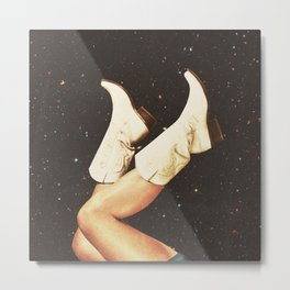These Boots - Space Metal Print