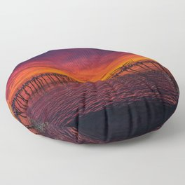 Redondo Pier Sunset Floor Pillow