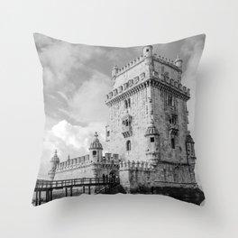 Belem Tower Lisbon Portugal Throw Pillow