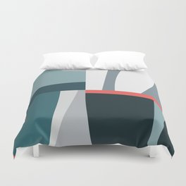 Organic Geometric 01 Blue Duvet Cover