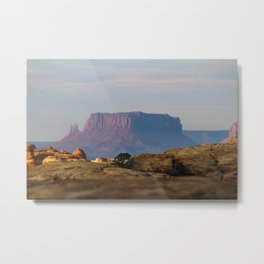 Distant Mesa Metal Print