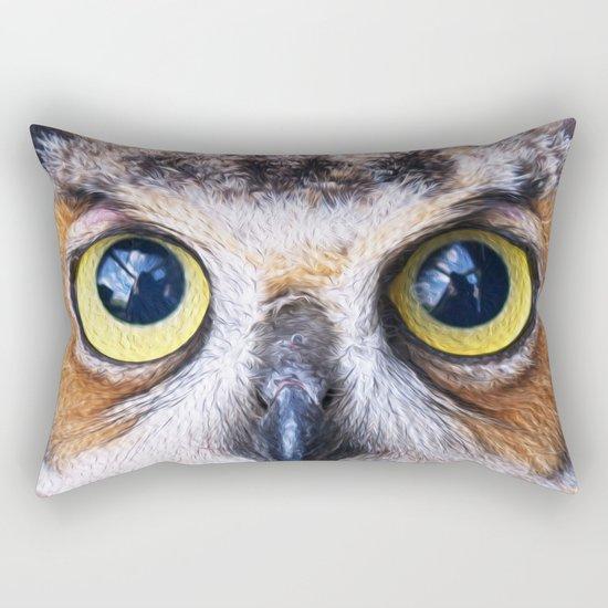 Big Eye Owl Rectangular Pillow
