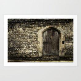 Oxford Wall - Vintage England Art Print