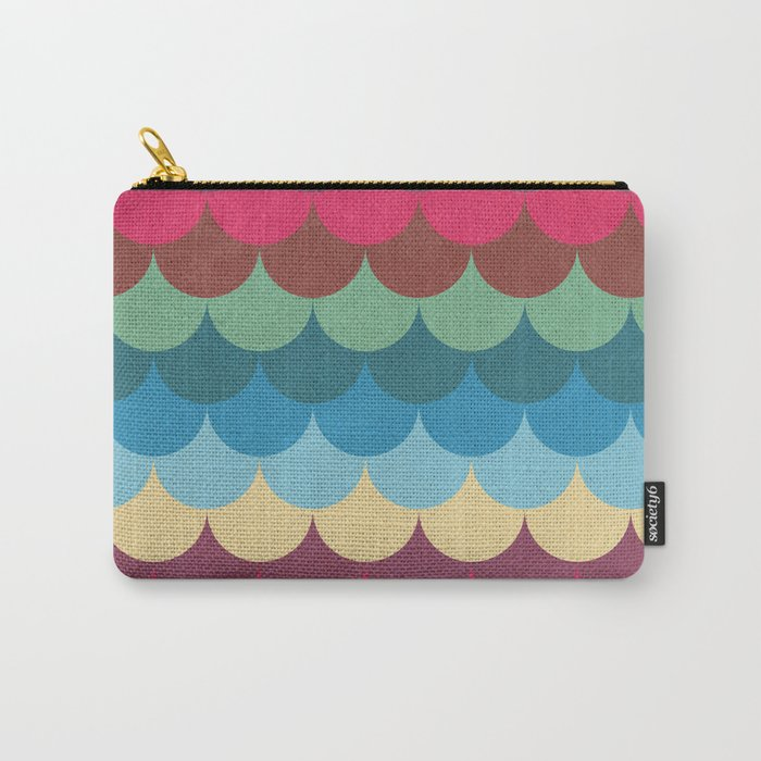 Colorful Mermaid Pattern Carry-All Pouch