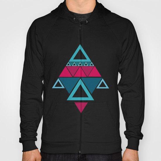 a few triangles making a pattern Hoody