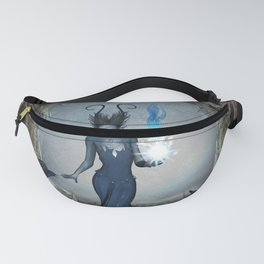 The dark fairy with crow Fanny Pack